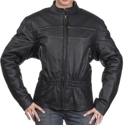 Woman Coat Leather Jacket-HMB-0247A